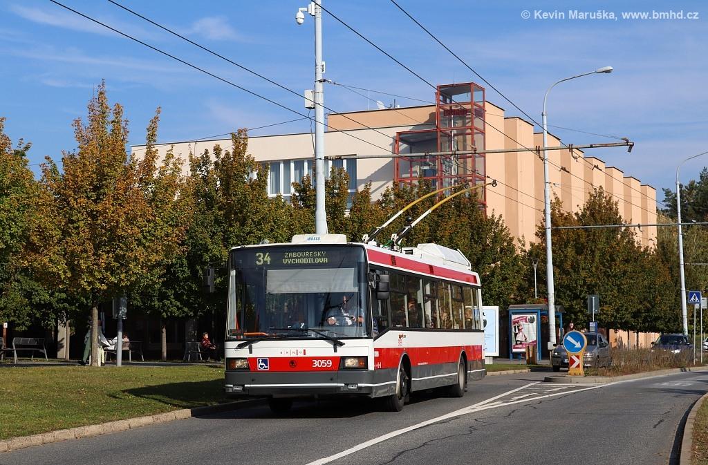 Fotogalerie » Škoda 21Tr 3059 | Brno | Žabovřesky | Makovského náměstí | Makovského náměstí
