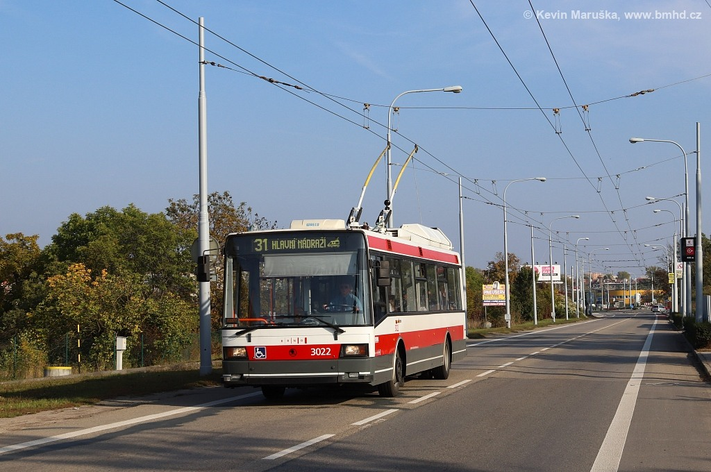 Fotogalerie » Škoda 21Tr 3022 | Brno | Slatina | Olomoucká