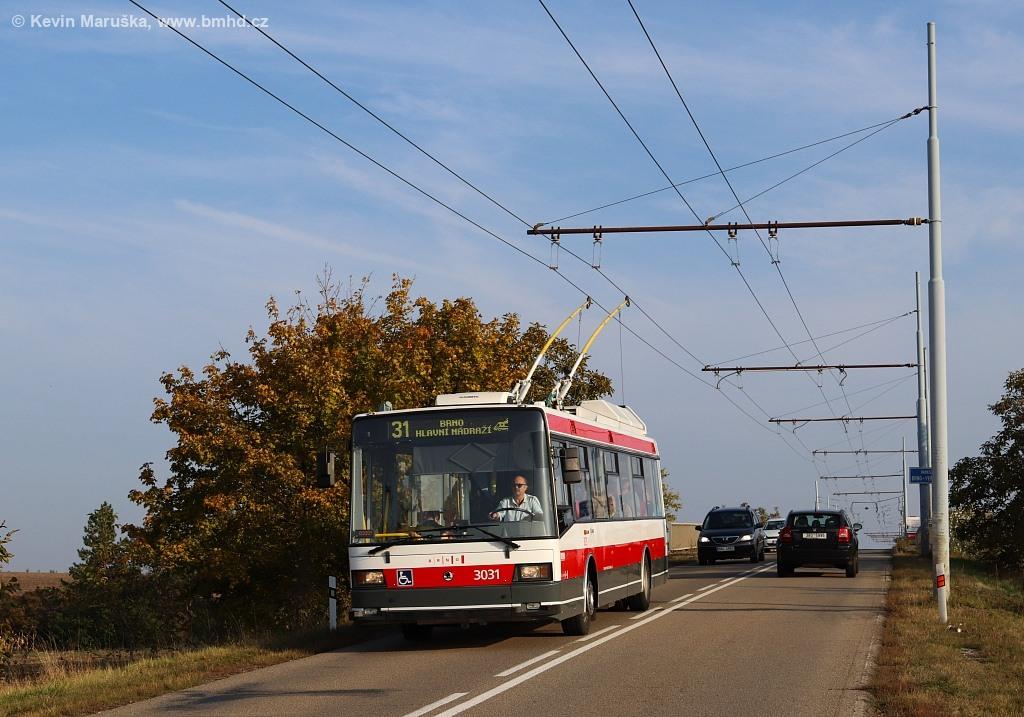 Fotogalerie » Škoda 21Tr 3031   Brno   Slatina   Šlapanická