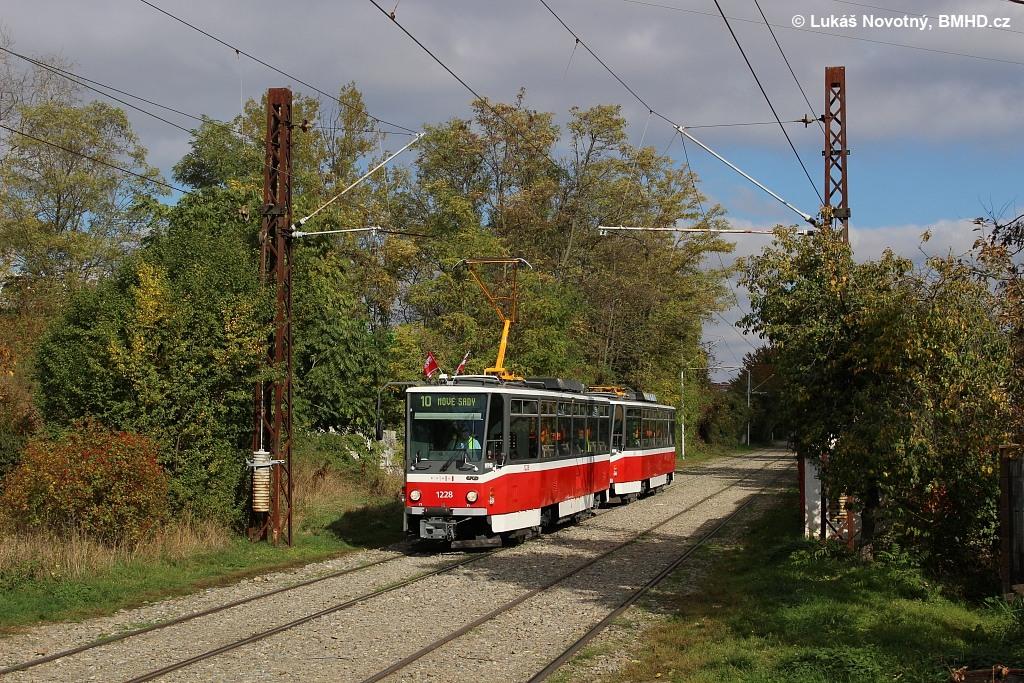 Fotogalerie » ČKD DS T6A5 1228 | ČKD DS T6A5 1223 | Brno | Stránská skála