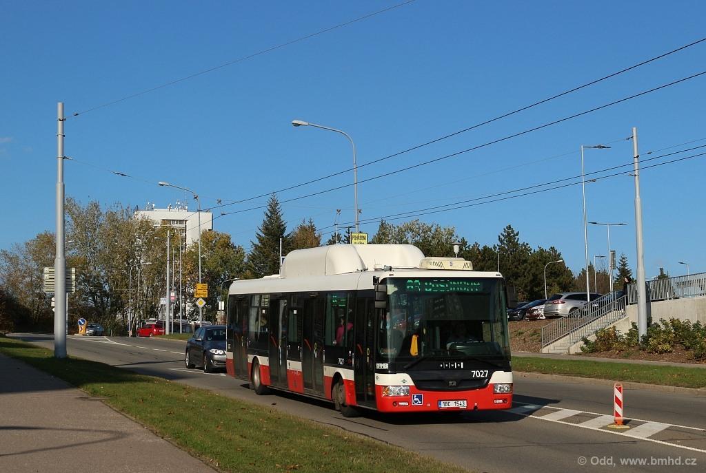 Fotogalerie » SOR NBG 12 1BC 1543 7027 | Brno | Starý Lískovec | Osová