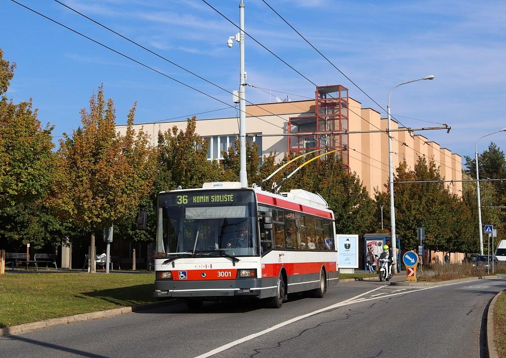 Fotogalerie » Škoda 21Tr 3001   Brno   Žabovřesky   Makovského náměstí   Makovského náměstí