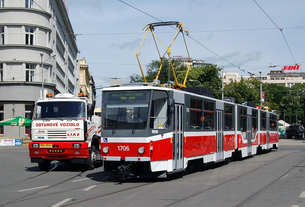 Fotogalerie » ČKD Tatra KT8D5R.N2 1706 | Brno | střed | Rašínova