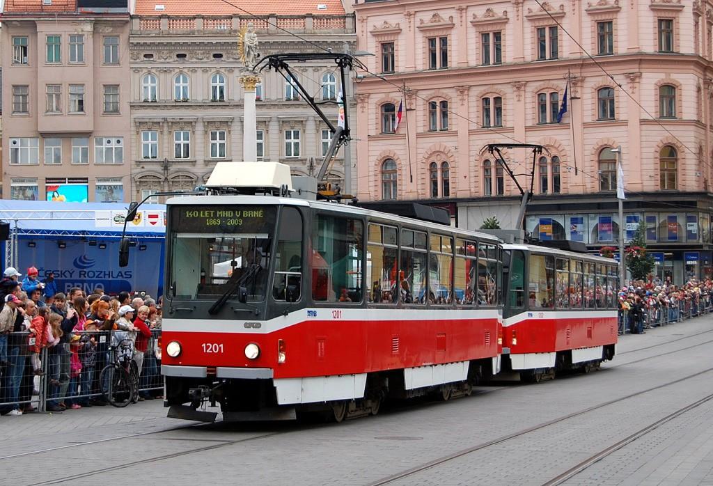 Fotogalerie » ČKD DS T6A5 1201 | ČKD DS T6A5 1202 | Brno | střed | náměstí Svobody