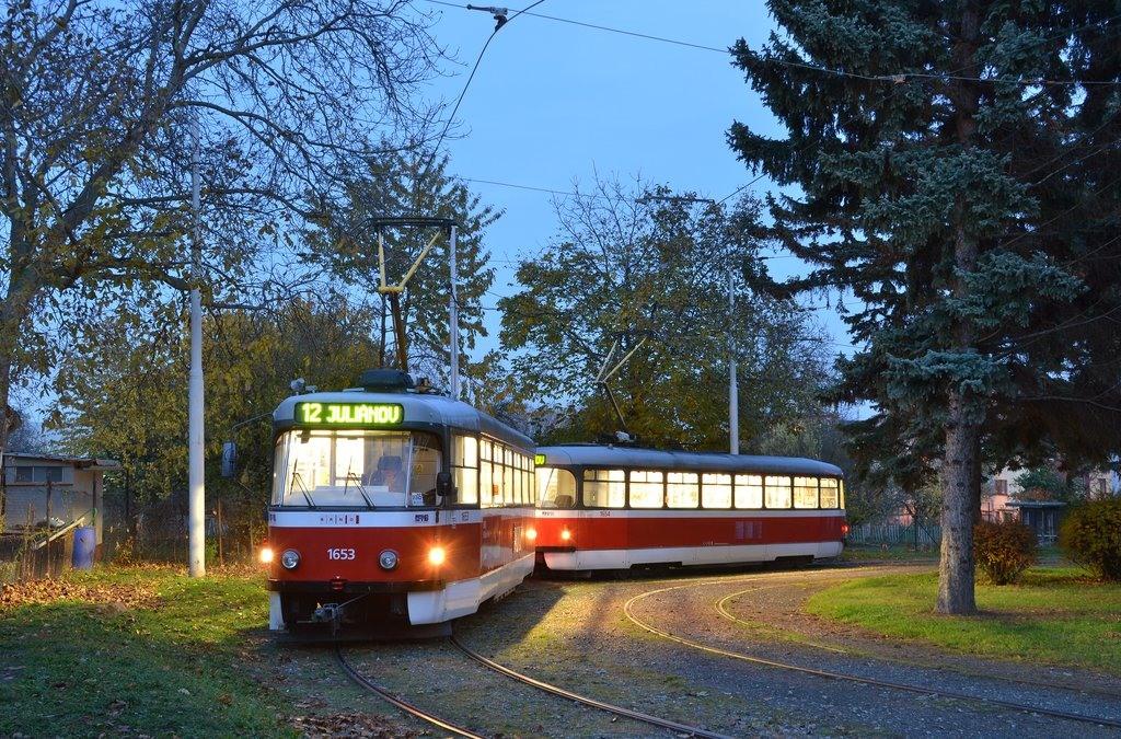 Fotogalerie » Pragoimex T3R.PV 1653 | Pragoimex T3R.PV 1654 | Brno | Královo Pole | Purkyňova | Červinkova, smyčka