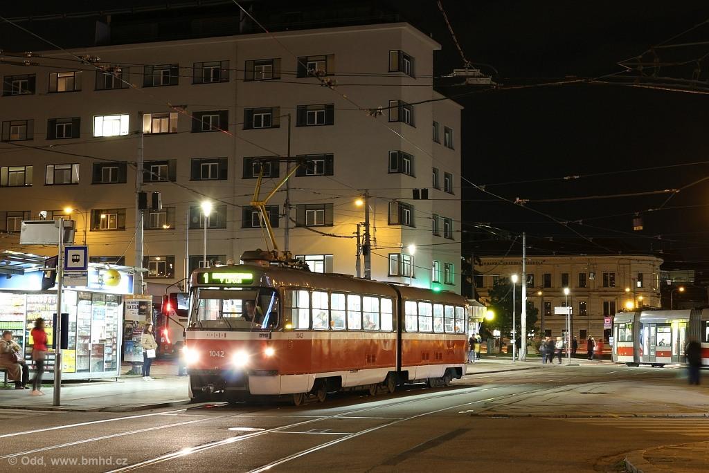 Fotogalerie » ČKD Tatra K2P 1042 | Brno | Staré Brno | Mendlovo náměstí | Mendlovo náměstí