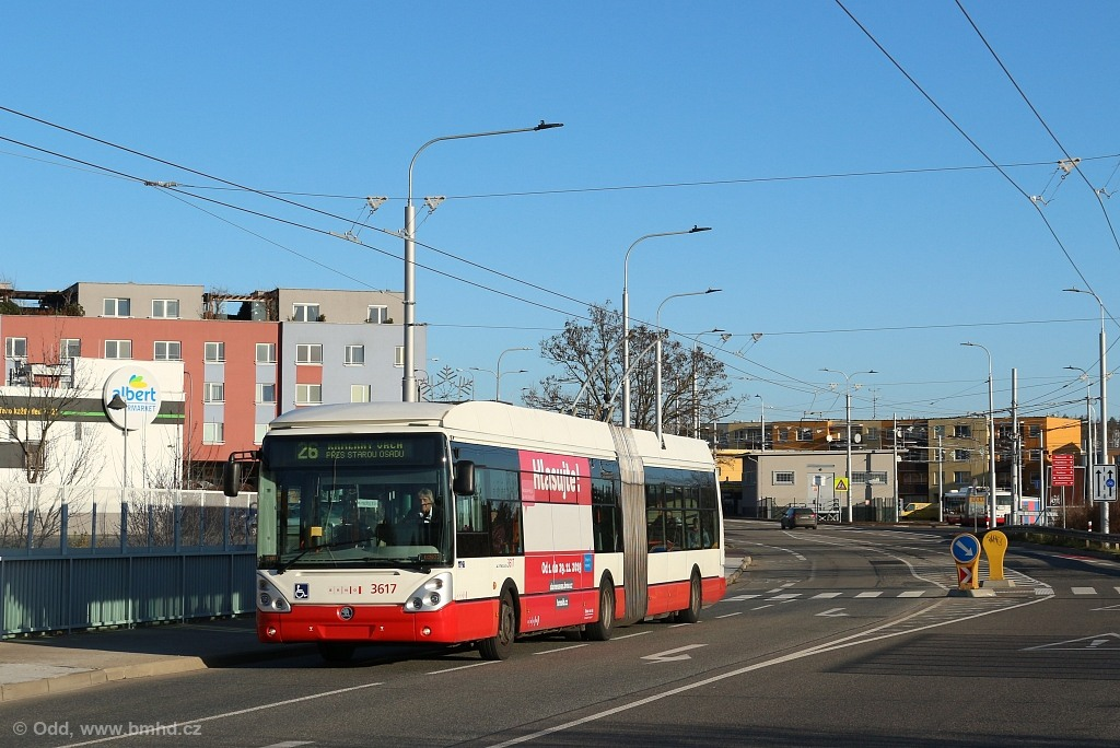Fotogalerie » Škoda 25Tr Citelis 1B 3617   Brno   Líšeň   Novolíšeňská