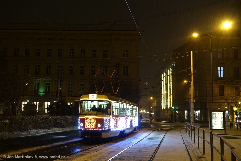 Fotogalerie » ČKD Tatra T3 1525   Brno   střed   Žerotínovo náměstí