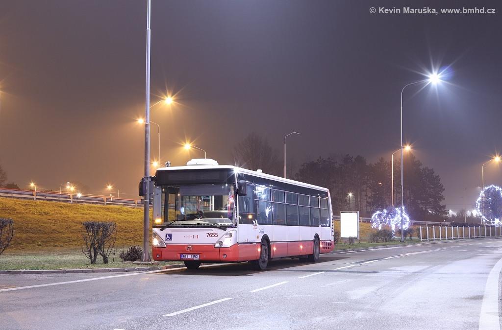 Fotogalerie » Irisbus Citelis 12M 6B6 6853 7655 | Brno | Dolní Heršpice | Skandinávská