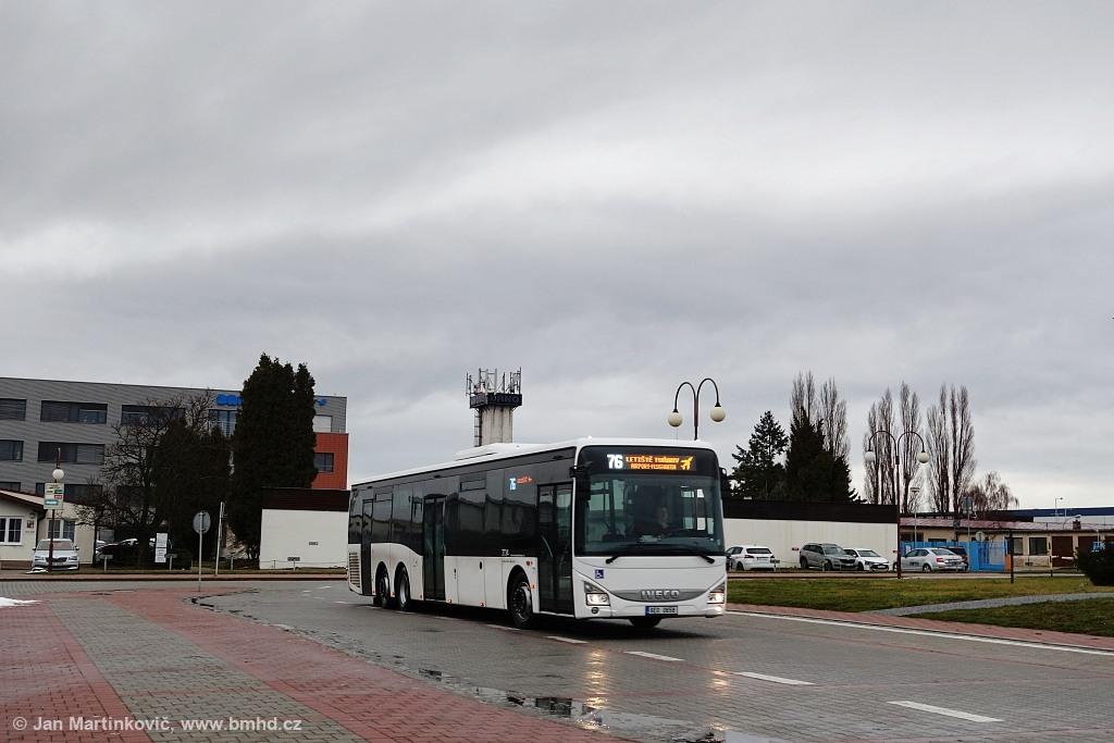 Fotogalerie » Iveco Crossway LE CITY 14.5M 6E0 0658 2724   Brno   Tuřany   Letiště Tuřany