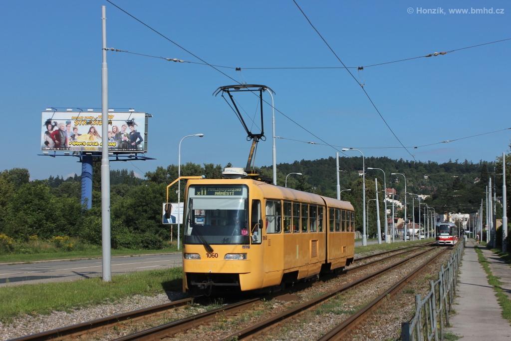 Fotogalerie » ČKD Tatra K2R03 1060 | Brno | Komín | Kníničská