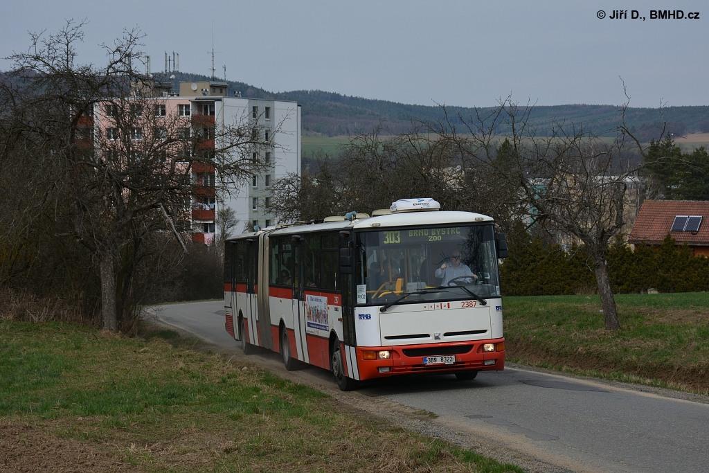 Fotogalerie » Karosa B961E.1970 3B9 8322 2387   Veverská Bítýška   Hvozdecká