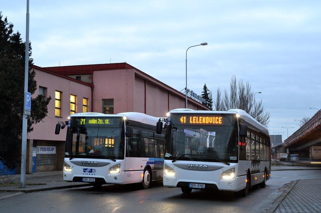 Fotogalerie » Iveco Urbanway 12M CNG 1BA 9470 | Iveco Urbanway 12M 5E9 6192 2721 | Brno | Královo Pole | Budovcova | Královo Pole, nádraží
