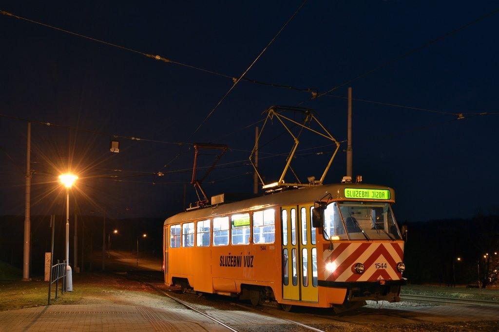 Fotogalerie » ČKD Tatra T3M 1544 | Brno | Bystrc | Vejrostova | Ečerova