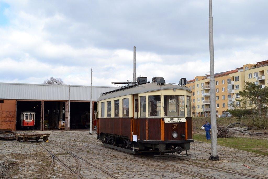 Fotogalerie » Vagónka Studénka CMg 57 | Brno | TMB Líšeň