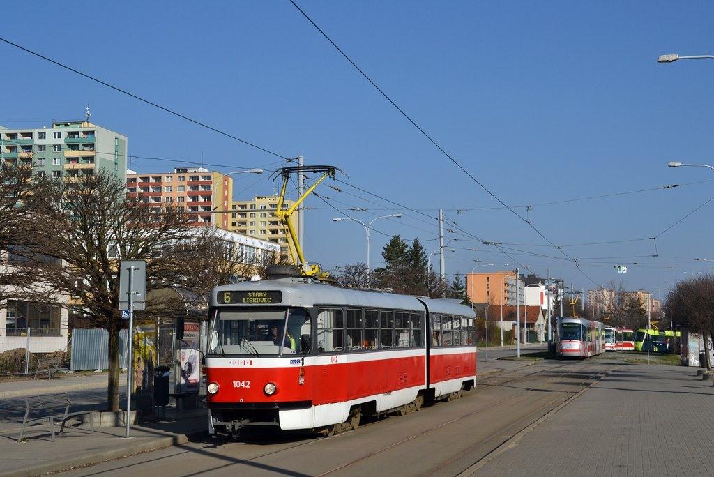 Fotogalerie » ČKD Tatra K2P 1042 | Brno | Královo Pole | Budovcova | Královo Pole, nádraží