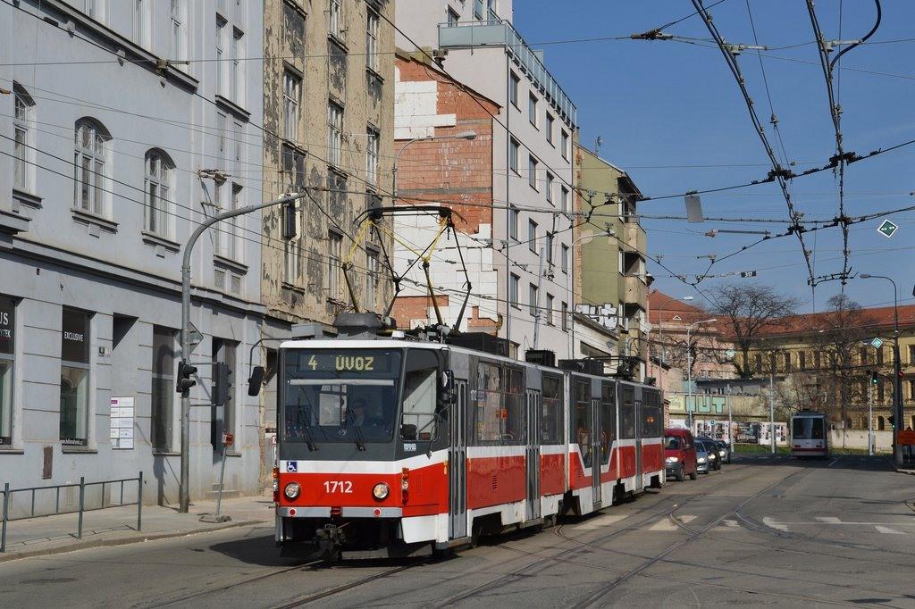 Fotogalerie » ČKD Tatra KT8D5R.N2 1712 | Brno | Zábrdovice | Vranovská