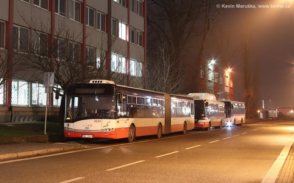 Fotogalerie » Solaris Urbino 18 III 9B7 9143 2634   Brno   Slatina   Tuřanka   Slatina, závod