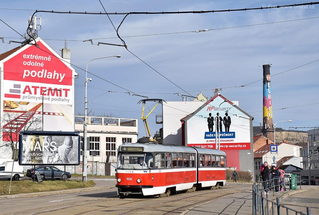 Fotogalerie » ČKD Tatra K2P 1026 | Brno | Husovice | Tomkovo náměstí
