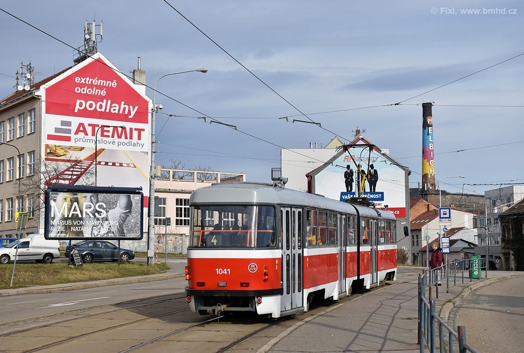 Fotogalerie » ČKD Tatra K2P 1041 | Brno | Husovice | Tomkovo náměstí | Tomkovo náměstí