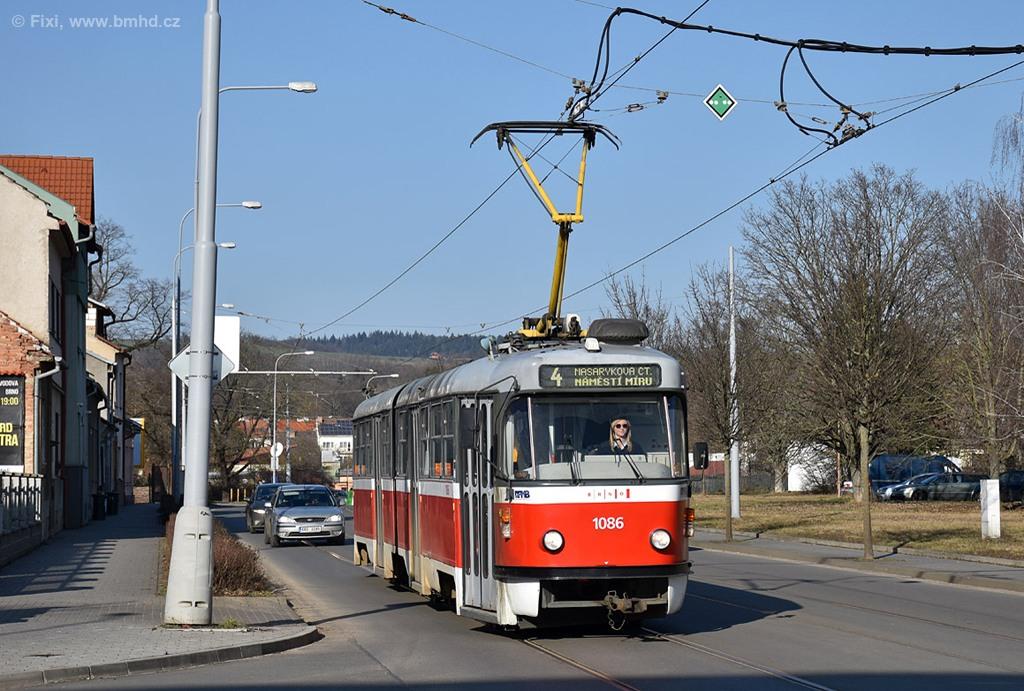 Fotogalerie » ČKD Tatra K2P 1086 | Brno | Maloměřice | Selská