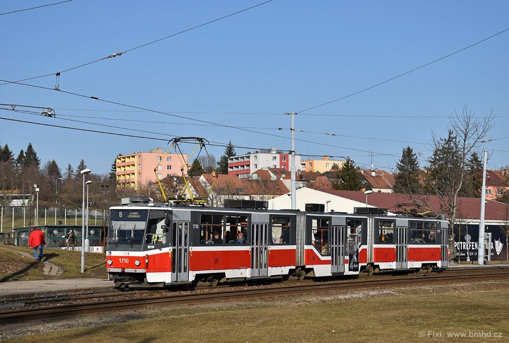 Fotogalerie » ČKD Tatra KT8D5R.N2 1710 | Brno | Bohunice