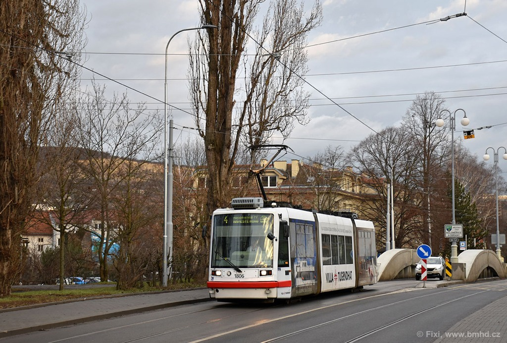 Fotogalerie » Škoda 03T6 1806 | Brno | Husovice | Valchařská