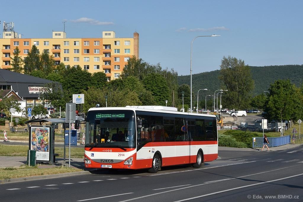 Fotogalerie » Iveco Crossway LE LINE 12M 2BD 9894 2914 | Brno | Bystrc | Vejrostova | Ečerova