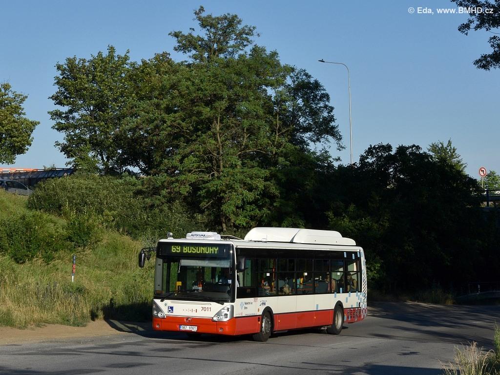 Fotogalerie » Irisbus Citelis 12M CNG 9B7 9161 7011 | Brno | Nový Lískovec | Chironova