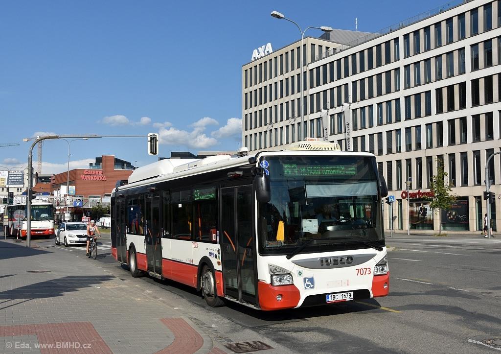 Fotogalerie » Iveco Urbanway 12M CNG 1BC 1579 7073 | Brno | Trnitá | Úzká