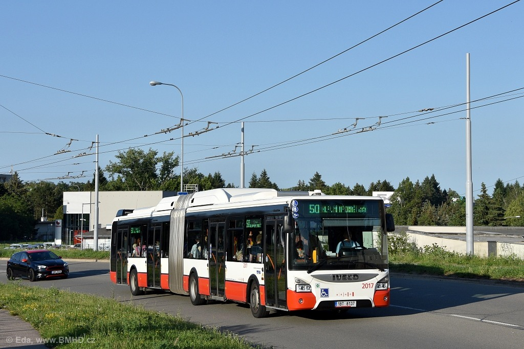 Fotogalerie » Iveco Urbanway 18M CNG 1BT 8137 2017 | Brno | Bohunice | Osová