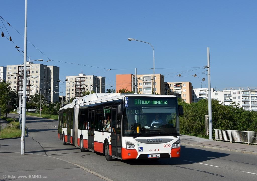 Fotogalerie » Iveco Urbanway 18M CNG 1BT 8142 2022 | Brno | Starý Lískovec | Osová