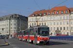 Původně pražská souprava T6 1229+1222 (ex 8686 a 8646) po zařazení v Brně