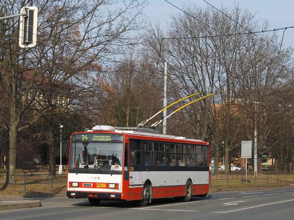 Fotogalerie » Škoda 14TrR 3286   Brno   Žabovřesky   Tábor