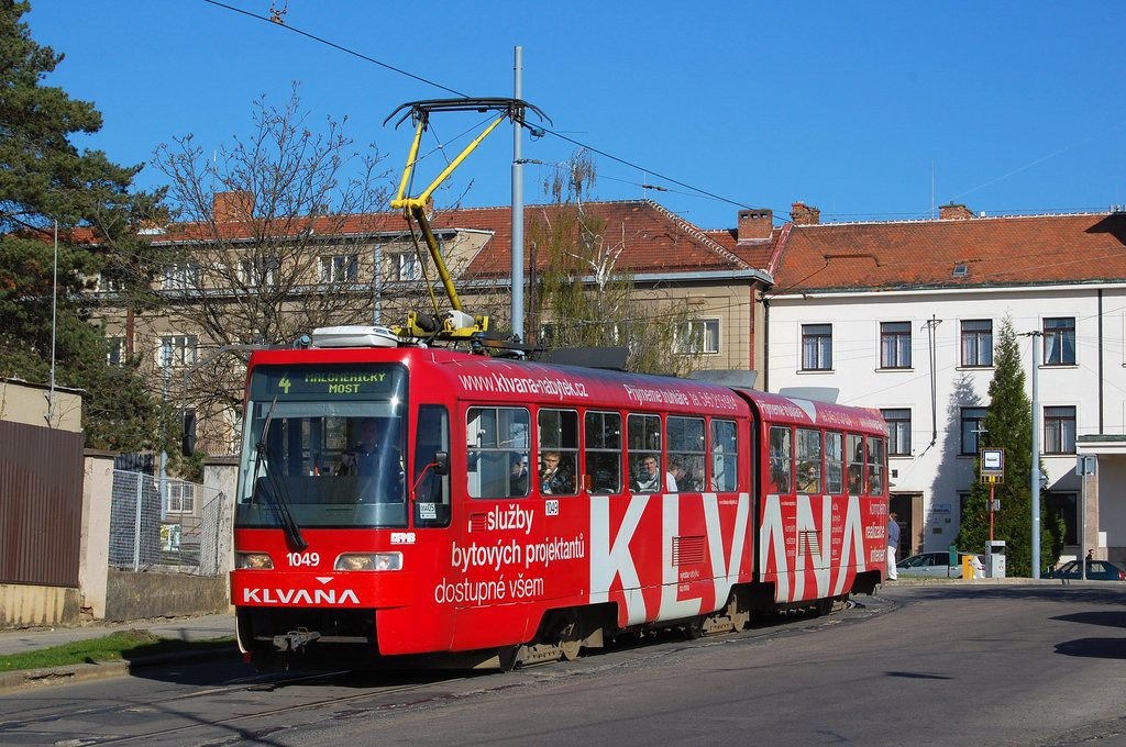 Fotogalerie » ČKD Tatra K2R03-P 1049   Brno   Masarykova Čtvrť   náměstí Míru