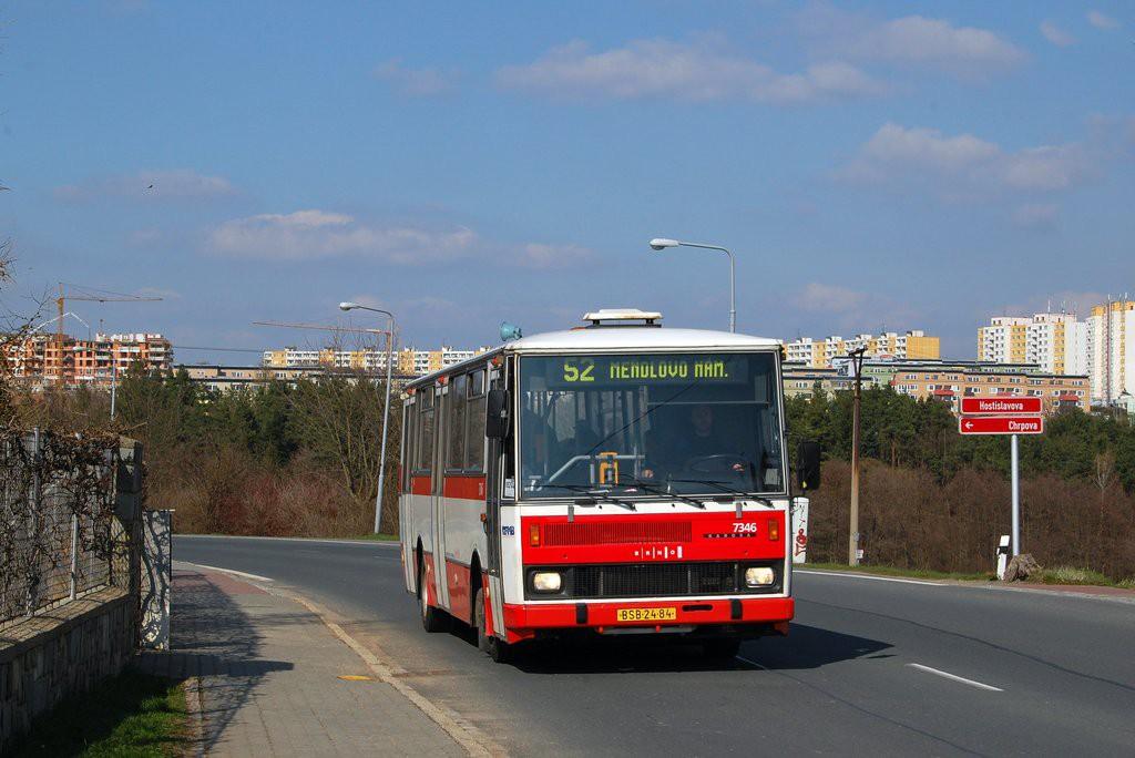 Fotogalerie » Karosa B732.1654 BSB 24-84 7346 | Brno | Žebětín | Hostislavova