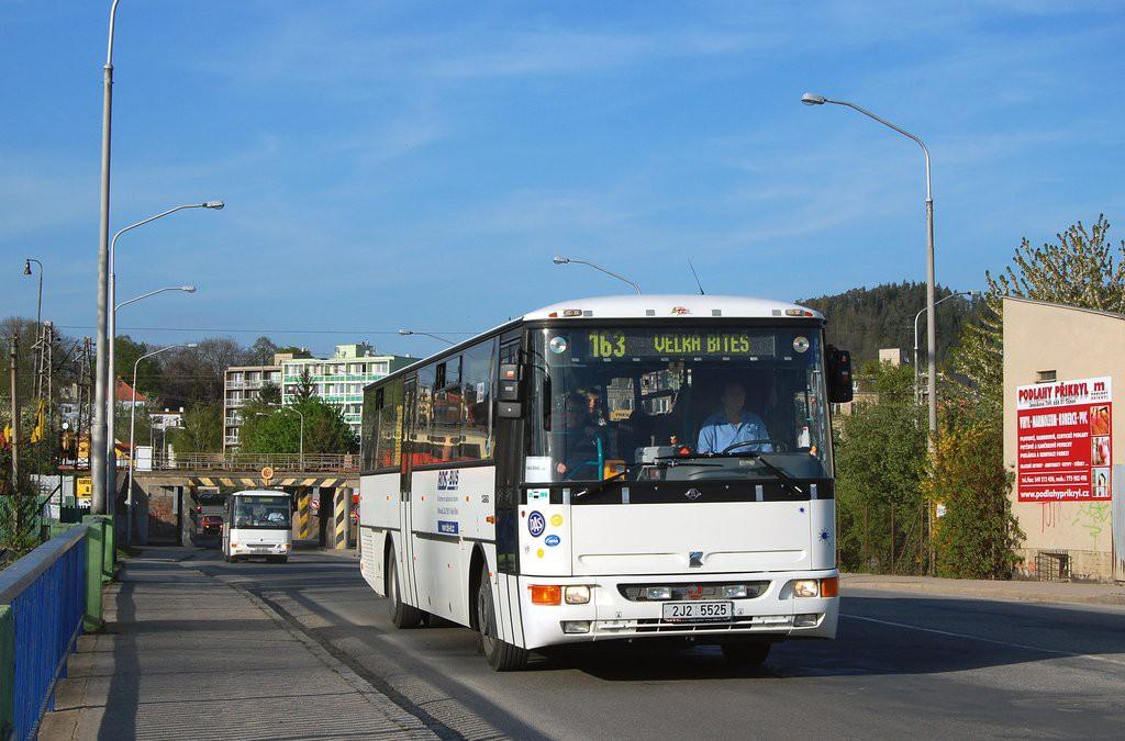 Fotogalerie » Karosa C954E.1360 2J2 5525 | Tišnov | Červený mlýn