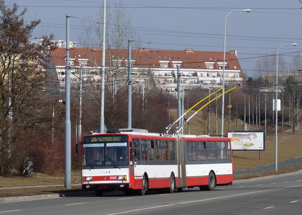 Fotogalerie » Škoda 15TrM 3508 | Brno | Líšeň | Novolíšeňská | Novolíšeňská