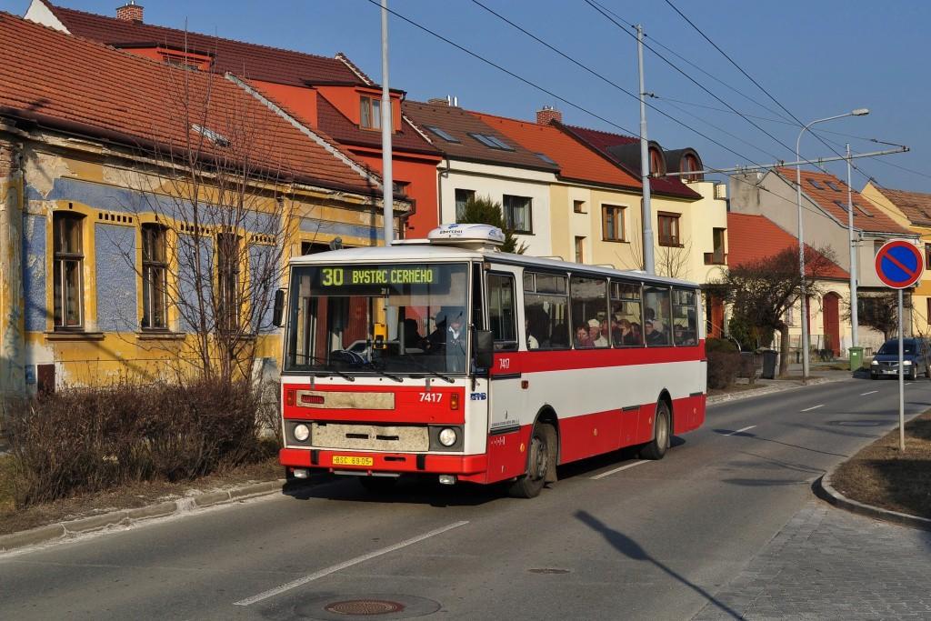 Fotogalerie » Karosa B731.1669 BSC 69-05 7417 | Brno | Komín | Branka
