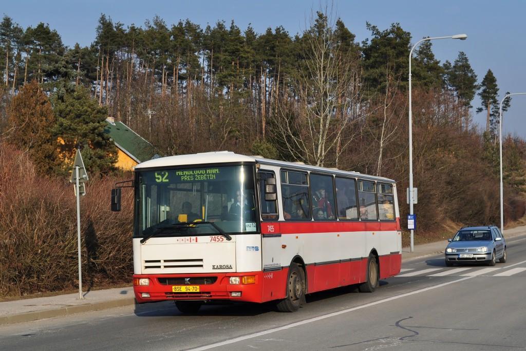 Fotogalerie » Karosa B931E.1707 BSE 94-70 7455 | Brno | Bystrc | Vejrostova | Ruda