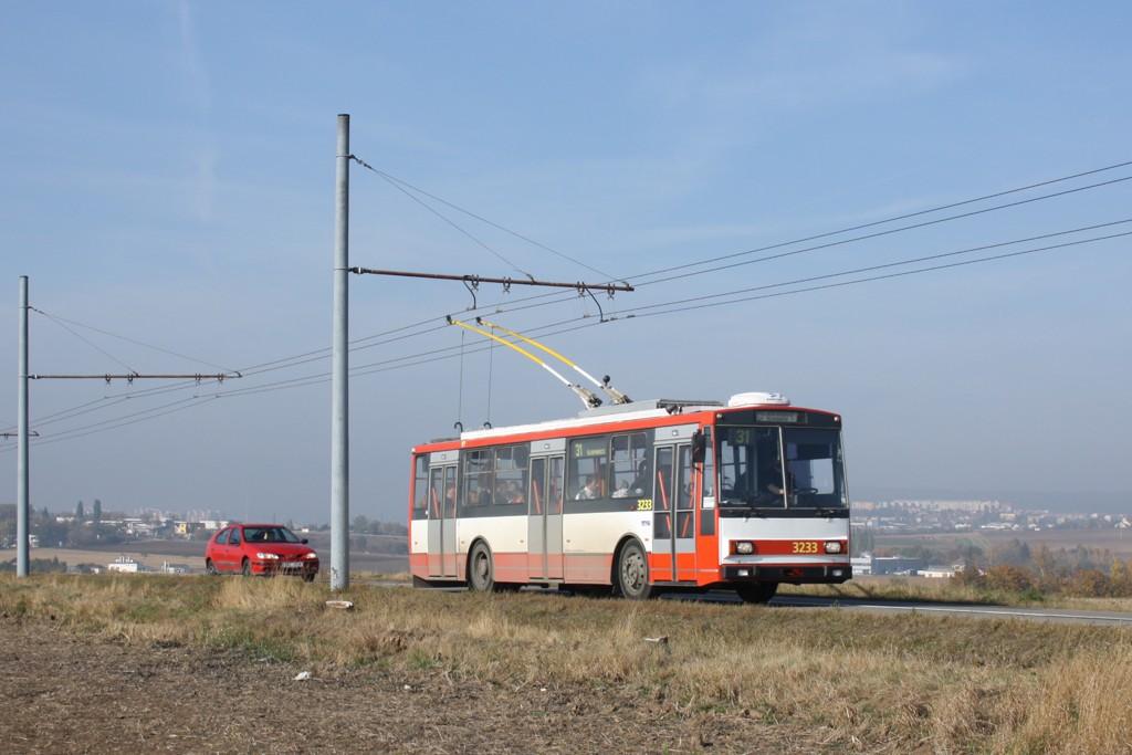 Fotogalerie » Škoda 14Tr10/6 3233 | Brno | Slatina | Brněnská | Hraničky