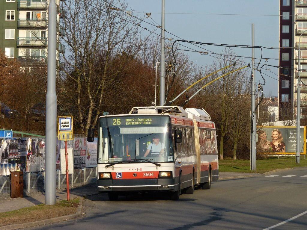Fotogalerie » Škoda 22Tr 3604 | Brno | Vinohrady | Věstonická | Bořetická