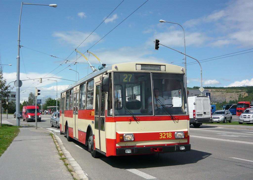 Fotogalerie » Škoda 14Tr08/6 3218 | Brno | Vinohrady | Žarošická | Prušánecká
