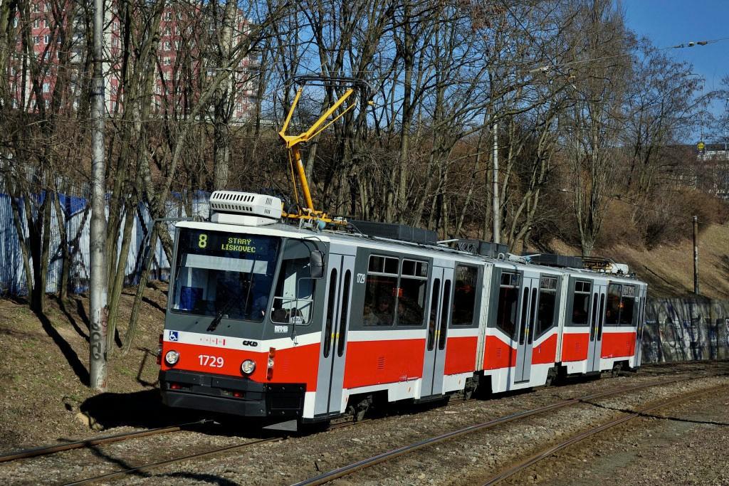 Fotogalerie » ČKD Tatra KT8D5N 1729 | Brno | Líšeň