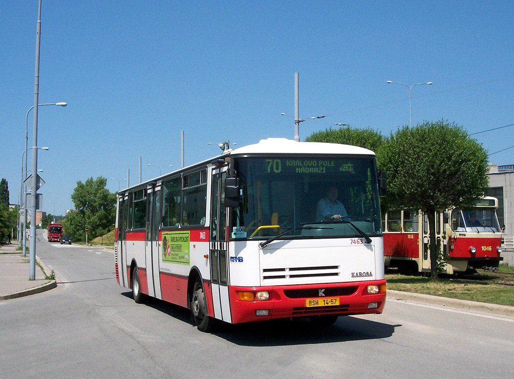 Fotogalerie » Karosa B931E.1707 BSH 14-57 7463 | Brno | Královo Pole | Budovcova | Královo Pole, nádraží