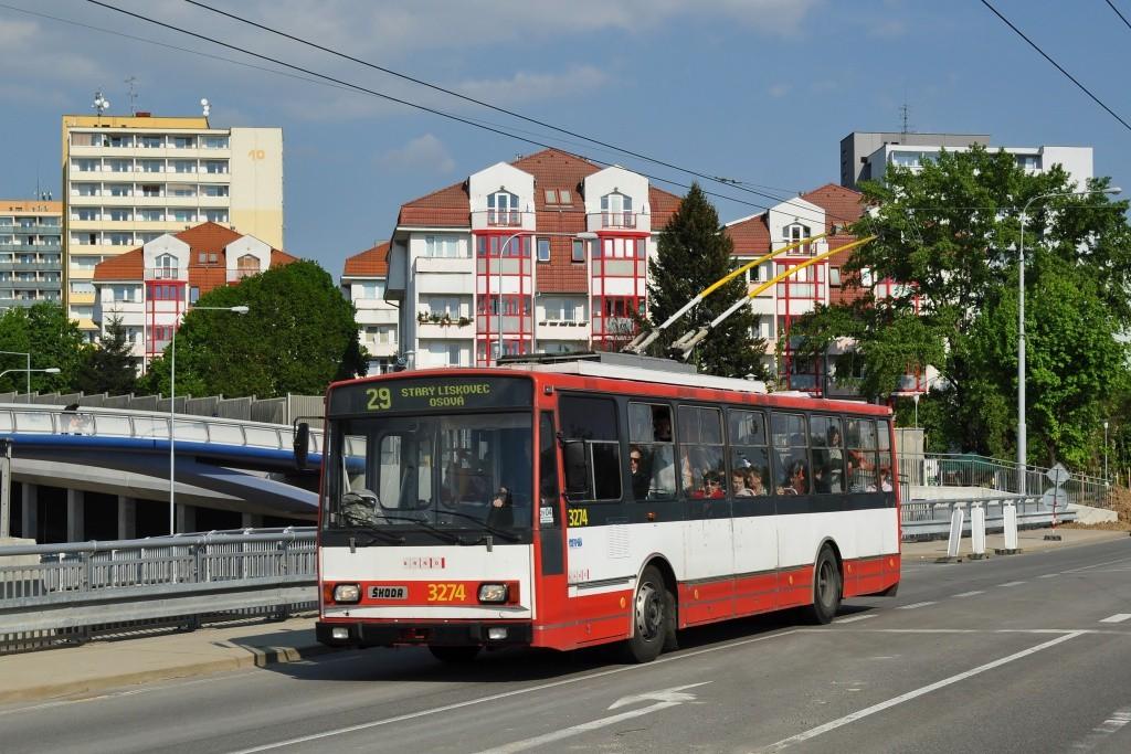 Fotogalerie » Škoda 14Tr17/6M 3274 | Brno | Žabovřesky | Korejská