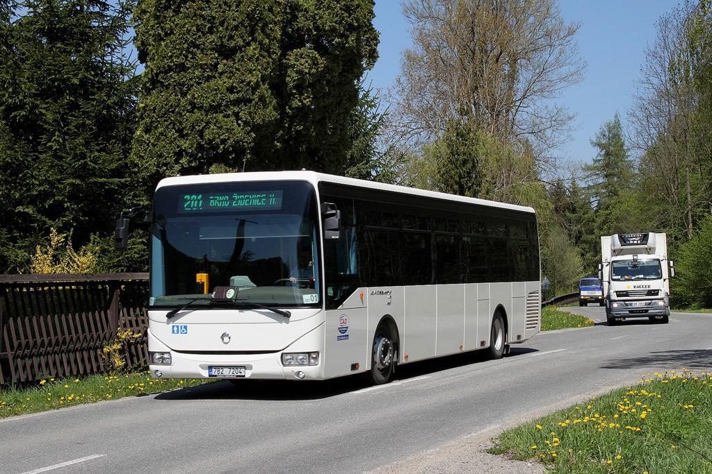 Fotogalerie » Irisbus Crossway LE 12M 7B2 7204 | Křtiny | Křtiny, háj.Na lukách