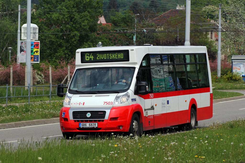 Fotogalerie » MAVE-Fiat CiBus ENA MAXI 6B6 6828 7503 | Brno | Židenice | Bubeníčkova