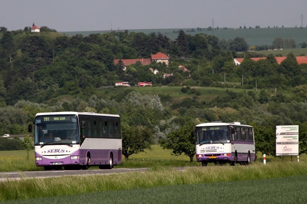 Fotogalerie » Irisbus Crossway 12M 3B6 7889 | Karosa C934E.1351 BOM 18-17 | Velatice