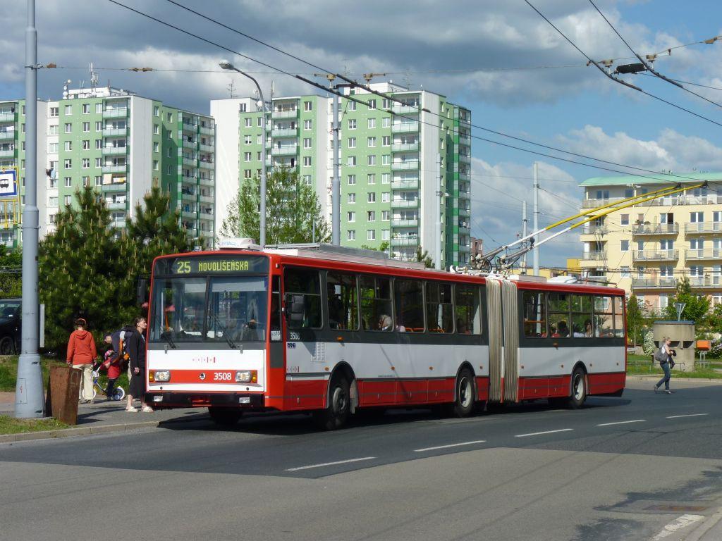 Fotogalerie » Škoda 15TrM 3508 | Brno | Vinohrady | Věstonická | Pálavské náměstí